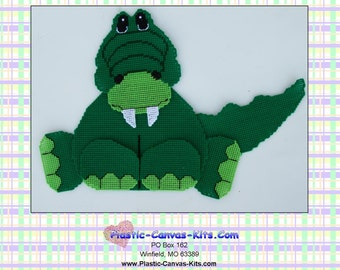 Alligator Wall Hanging-Plastic Canvas Pattern-PDF Download