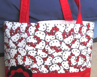Red Hello Kitty Tote Bag