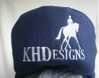 Custom Embroidered saddle covers