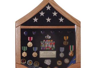Air Force Master Sergeant (E7) Shadow Box - 3x5 Flag