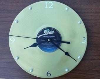 Items Similar To Handmade Recycled Retro Record Clock