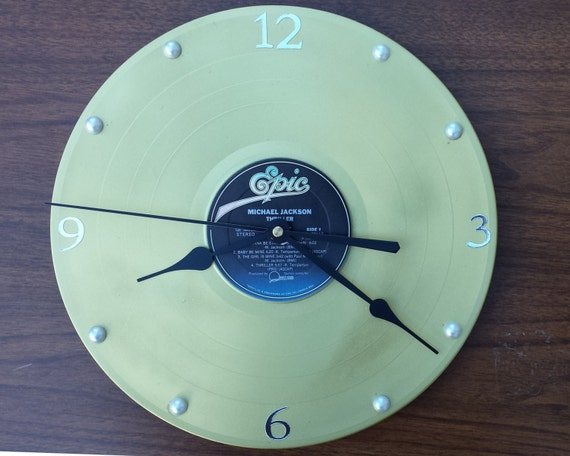Retro Lp Record Clock From Rekordtime Com Thriller