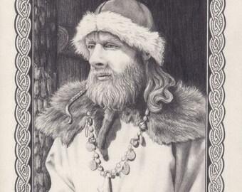 Viking pencil drawing
