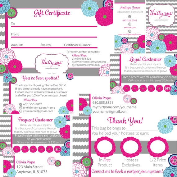 il_570xN.717314599_mnkg thirty one consultant business card and supply bundle bubble,Thirty One Invitations