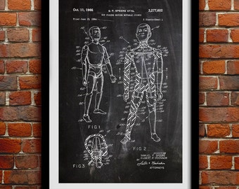 Original G.I. Joe 1960 - Action Figure Toy - Patent Print Poster Wall Decor - 0041