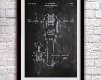 GHOSTBUSTERS - PKE Meter - Fantasy Art Patent - Patent Print Poster Wall Decor - 0139