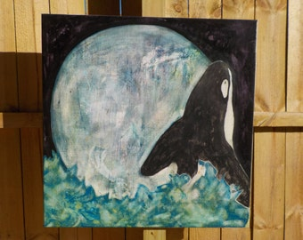 Whale on the moon