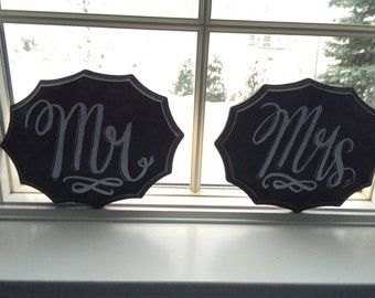 Wedding Mr and Mrs chalkboard signs