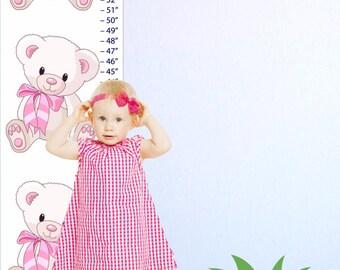 Teddy Bear Canvas Growth Chart