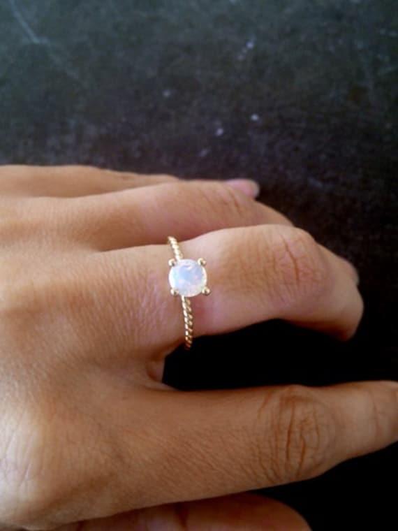 Sale Gold Ringround Ringgold Genuine Moonstone Ring