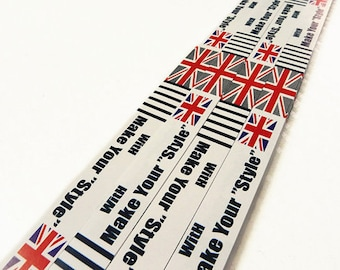 Origami Lucky Star Paper strips England Flag Make Your Style - Pack of 40 Strips