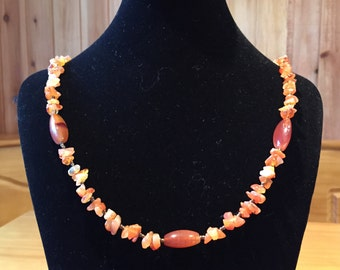 Carnelian oval necklace