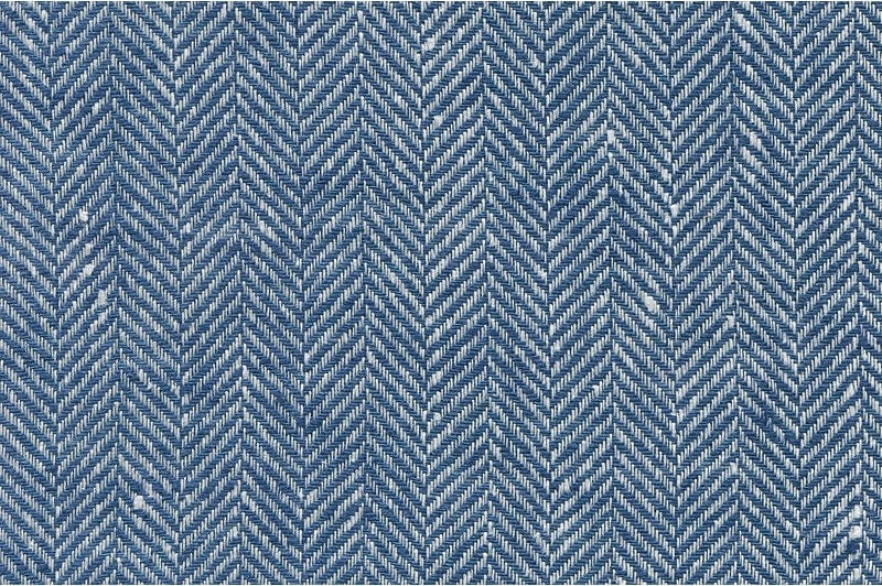 Blue Herringbone Linen Fabric. 59 150cm wide. by LinenSupplies