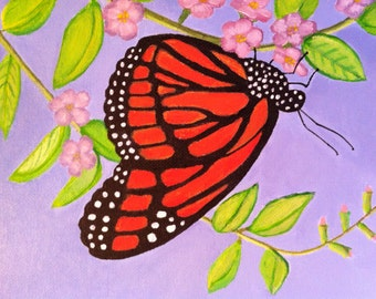 Beauty of Nature Monarch Butterfly Painting