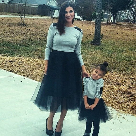 tulle skirt Mommy and Me skirt Matching skirts Black tulle