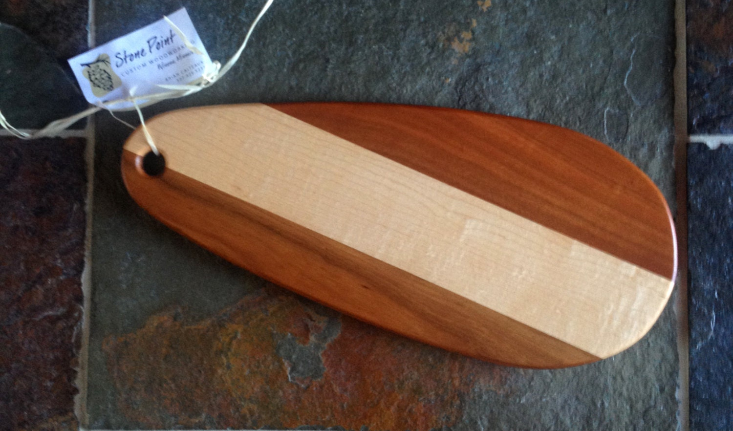 Daredevil fishing lure cutting board by stonepointwoodwork for Fish cutting board