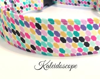 Kaleidoscope Dog Collar ~ Girl Dog Collar ~ Matching Leash Available