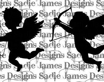 Cupid SVG and Silhouette Studio cutting files, Instant Download