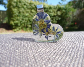 Tiny flowers captured in resin.