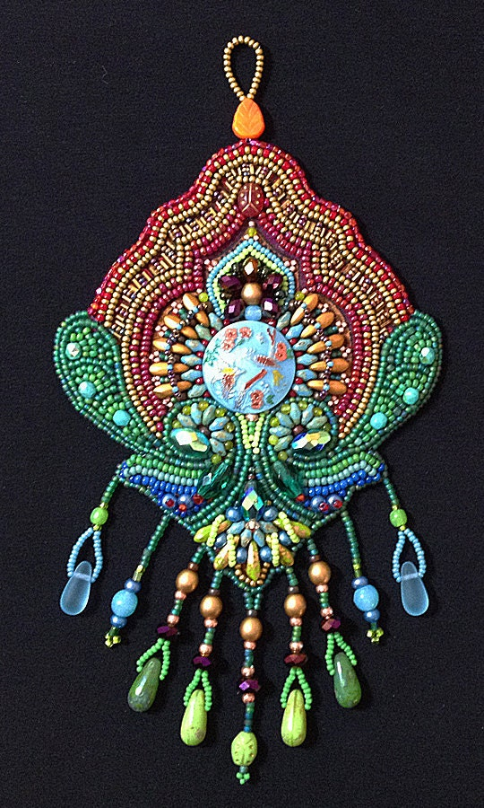 Bead embroidery kit birds of paradise