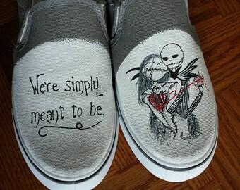 similar to SALE Custom Painted Nightmare Before Christmas shoes. Vans ...