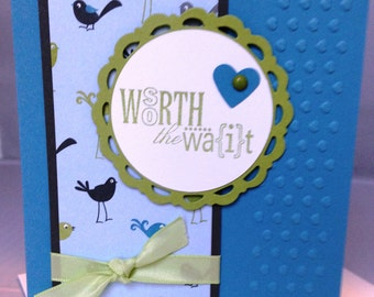 Stampin Up Handmade Greeting Card, Baby Card