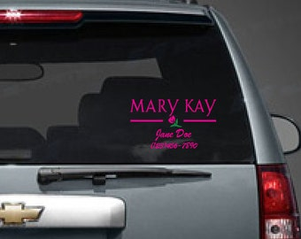 Personalized Mary Kay Decal For Your Business - Custom car decals for business   how to personalize