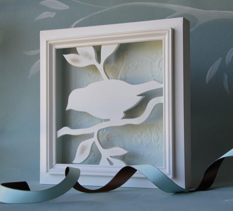 Wooden Birdhouse Wall Decor : Wood bird wall decor d silhouette by