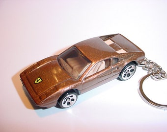 3D Ferrari 308 custom keychain by Brian Thornton keyring key chain finished in bronze color trim diecast metal body