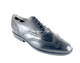 Leather Wingtip Shoes, Mens Wingtip Shoes, Black Formal Shoes, Black Brogue Shoes, Leather Wingtip Shoes, Custom Leather Shoes.