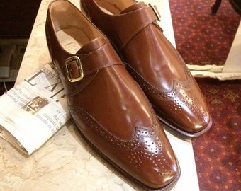 Men's Leather Shoes, Leather Wingtips Oxfords, Brogue Monk Shoes, British Style Men Shoes, Leather Wingtips Shoes