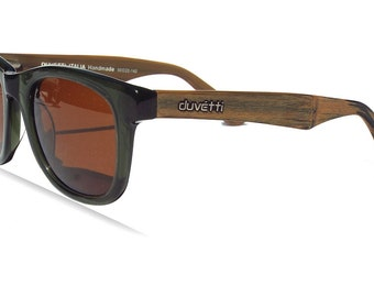 30% OFF Sale! Handmade Polarized Woodgrain Wayfarer  Sunglasses - Designed in Italy, mens sunglasses, womens sunglasses, wayfarer, retro