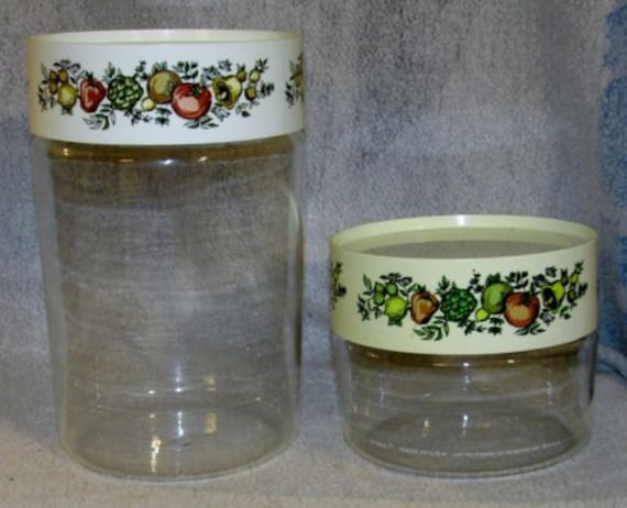 vintage pyrex spice of life glass storage containers by jdbtoybox. Black Bedroom Furniture Sets. Home Design Ideas