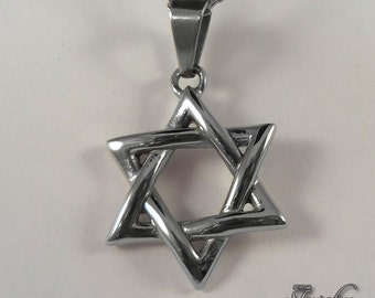 Star of David Necklace 18-20 Silver 925
