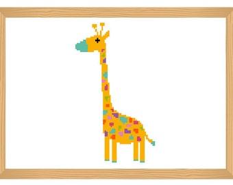 Giraffe Cross Stitch Pattern, Baby Pattern, Baby Giraffe Pattern, Cross Stitch Pattern, Modern Cross Stitch, Simple Cross Stitch, Funny