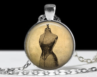 Sewing Jewelry Sewing Necklace Dress Form Pendant Charm