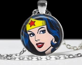 Wonder Woman Necklace Jewelry Necklace Wearable Art Pendant Charm Comic Fandom