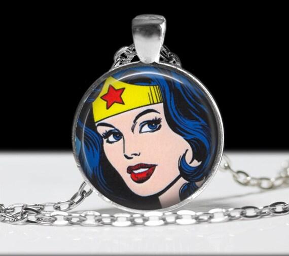 wonder woman necklace jewelry necklace wearable art pendant. Black Bedroom Furniture Sets. Home Design Ideas