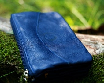 Leather wallett blue