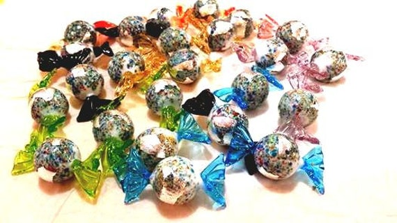 Klimt Kugeln: Glass Candy Handmade in Authentic Murano Glass