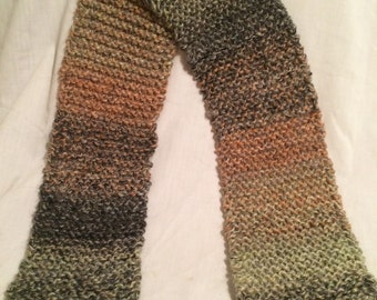 Handmade knitted multicolor scarf