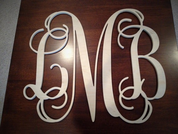 12 24 inch unpainted 3 letter wooden monogram wooden decor for 3 inch wooden letters