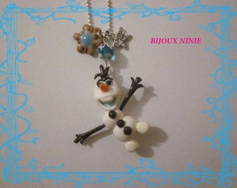 Olaf Queen necklace from fimo snow