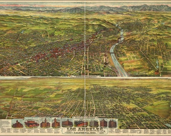 24x36 Poster; Map Of Los Angeles, California, 1894