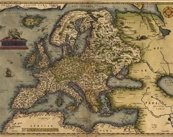 24x36 Poster; 1572 Europa Ortelius Map Of Europe By Ortelius