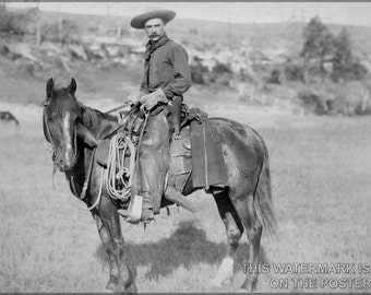 24x36 Poster; American Cowboy, C. 1888