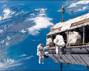24x36 Poster; Spacewalk International Space Station Sts-116 Spacewalk Iss