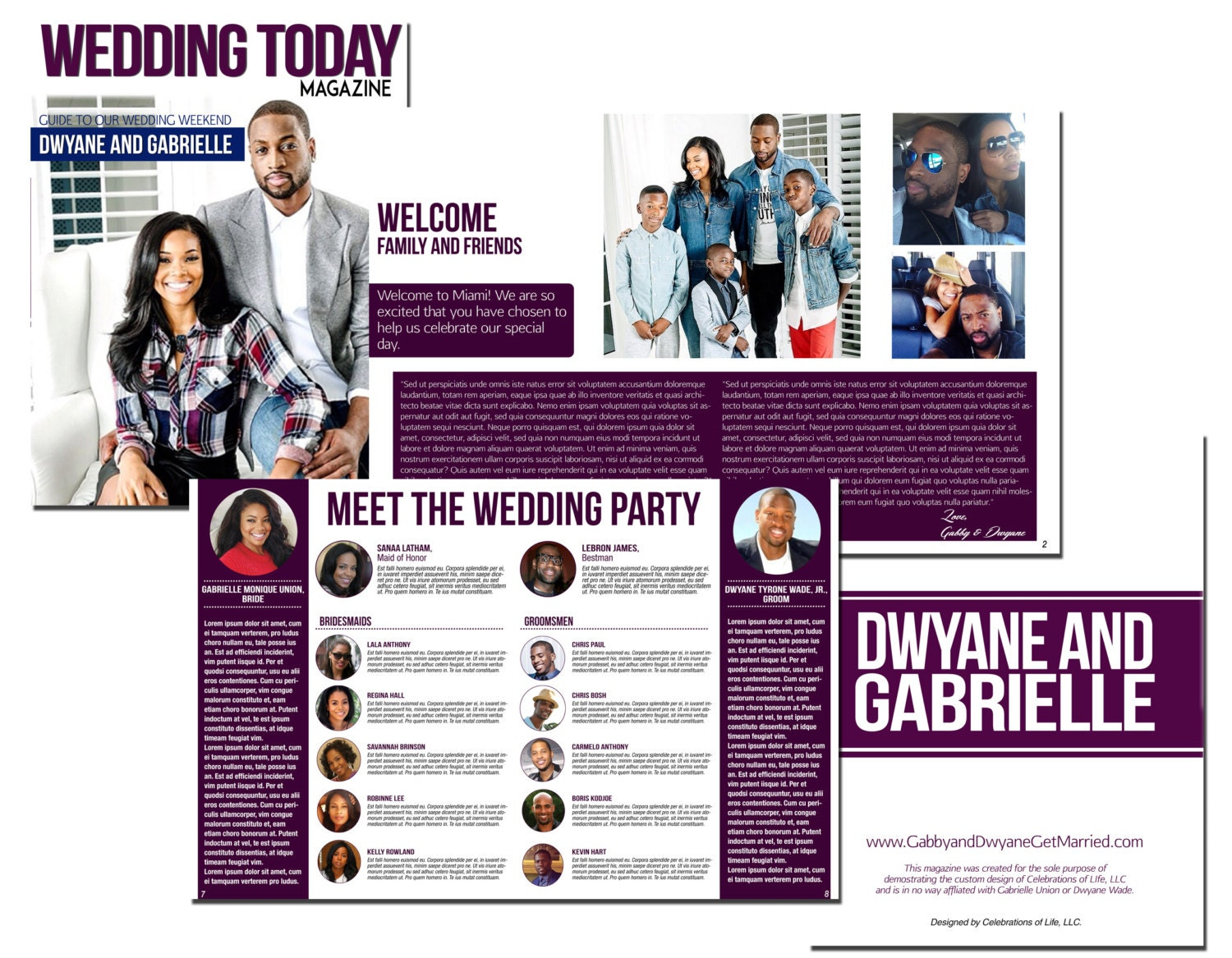 Wedding Magazine Program MS Publisher Template with VIDEO