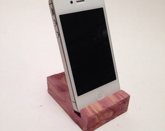 Cedar Iphone Stand/holder/dock/charging station