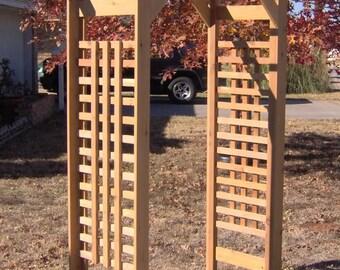 Brand New Classic Cedar Garden Arbor - Free Shipping